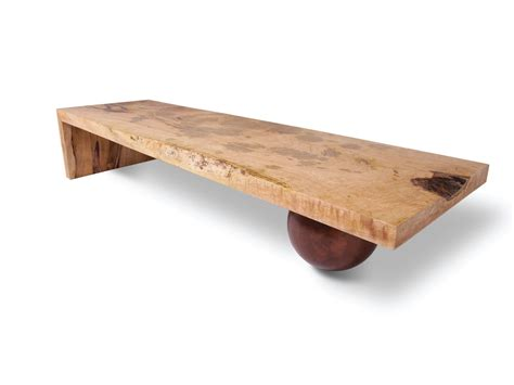 Low Wooden Coffee Table Mesmerizing Low Square Unpainted Reclaimed Wood Coffee Table With Balls Base For Rustic Interior