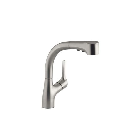 Kohler Elate Kitchen Faucet Kohler Elate Single Handle Pull Out Sprayer Kitchen Faucet In Vibrant Stainless K R13963 Sd Vs