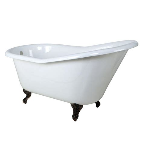 Cast Iron Bathtubs Home Depot by Aqua 5 Ft Cast Iron Rubbed Bronze Claw Foot