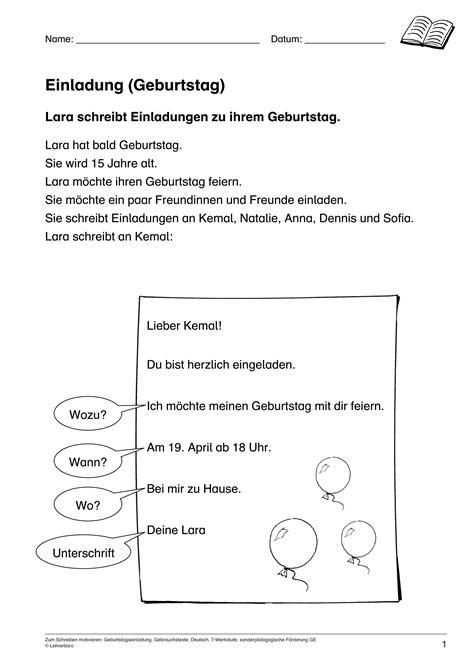 Schreiben Einladung Muster geburtstag einladung schreiben cloudhash info