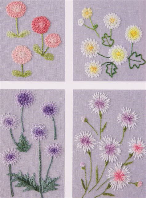 Patchwork Embroidery Stitches - flower in my garden embroidery stitch sewing applique