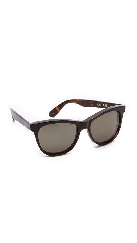 wildfox catfarer sunglasses in black lyst