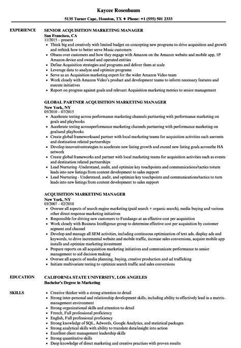 Acquisition Manager Sle Resume by Resume Cover Letter Exles Sales Representative Great Resume Cover Letter Exles Resume