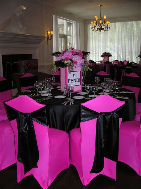 pink and black bridal shower decorations pink and black fendi bridal shower pink black bridal shower