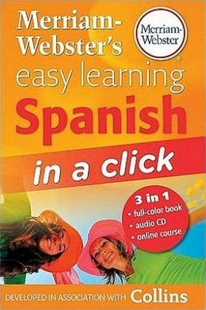 libro learn spanish in a merriam webster s easy learning spanish merriam webster s 9780877795582