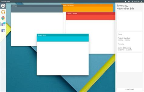google design ideas several linux distros borrow google s material design