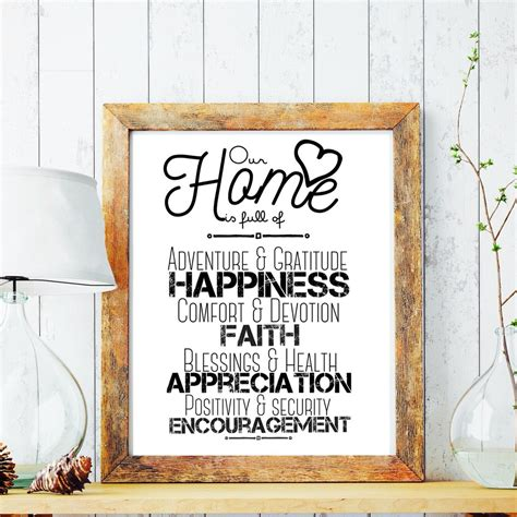 inspirational quotes for home decor framed home decor affirmations wall art