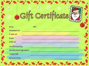 Christmas Gift Letter Sample - christmas letter gift certificate template