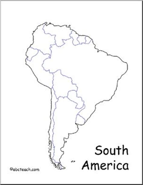 america map no labels map south america abcteach