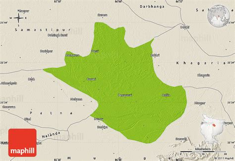 map of begusarai physical map of begusarai shaded relief outside