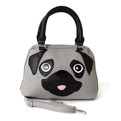 pug handbags happy puppy playful pug bag purse handbag ebay