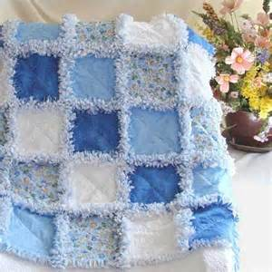 Baby Rag Quilts For Beginners by Baby Rag Quilt Blue Fish For The Home
