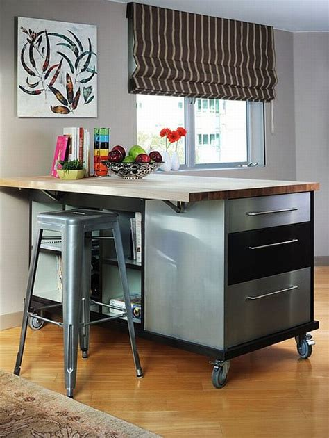industrial style kitchen island producing an eclectic kitchen in 5 actions decor advisor