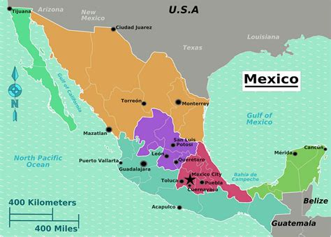 big map of mexico the largest most detailed mexico map and flag travel