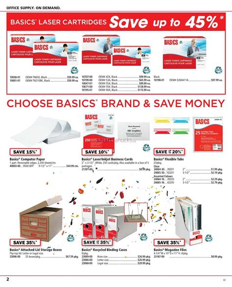 basics office supplies flyer may 9 to 20
