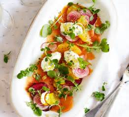 smoked salmon carpaccio recipe bbc good food