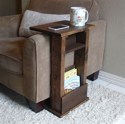 over the arm sofa table sofa chair arm rest table stand ii with shelf and by keodecor