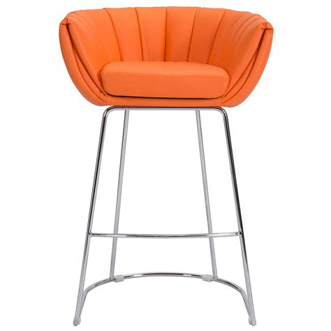 orange bar stools for sale modern modern barstools leandra orange stool eurway