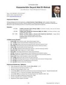Cover Letter For Civil Engineer by Hossam Civil Structural Engineer Cover Letter Cv Resume 3