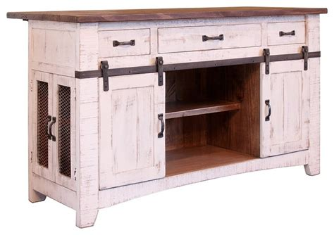 distressed white kitchen island crafters and weavers greenview kitchen island view in