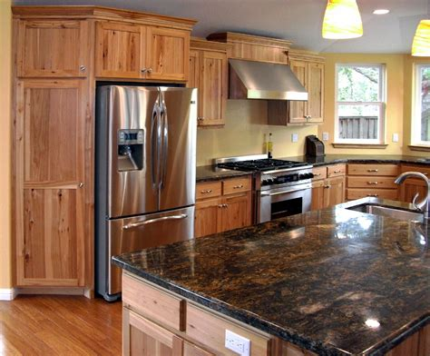 natural hickory kitchen cabinets rh1