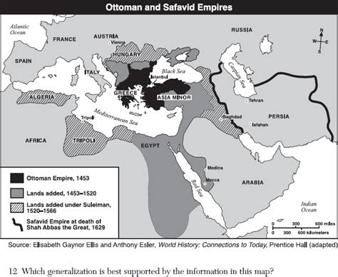 Geography Of Ottoman Empire World Geography Regents 08 04