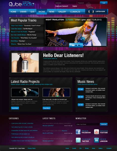 radio templates radio st v2 5 joomla template id 300111483 from simavera