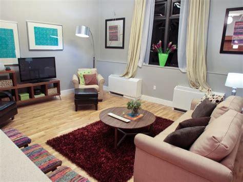 gray and burgundy living room photo page hgtv