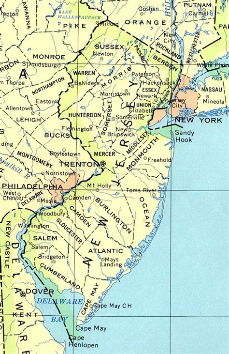 united states map new jersey base map of new jersey univ of basic map