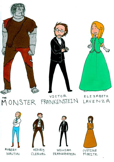 character analysis of frankenstein by mary shelley frankenstein main characters by contramonster on deviantart