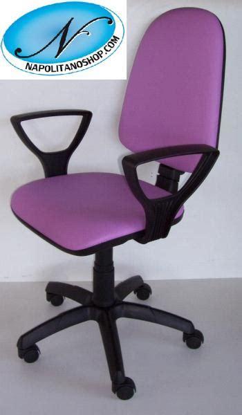 sedia di lilla sedia poltrona girevole ufficio ecopelle lilla con ruote e
