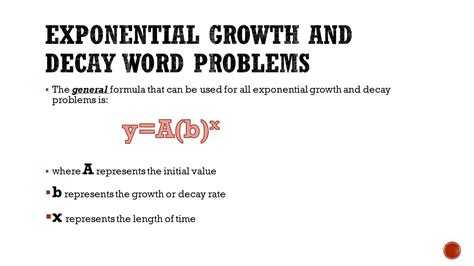 Exponential Growth And Decay Word Problems Worksheet by Rate Word Problems List Of Equivalent Fractions Place