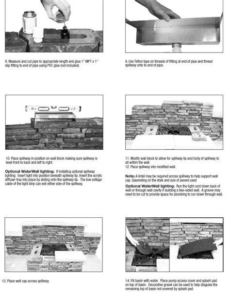 aquascape layout pdf stainless steel waterfall spillway by aquascape pavers