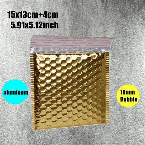 20 X 30 Aluminium Bag Packaging Baju Kantong Bubuk 15x13cm 5 91x5 12inch 20pcs golden aluminum padded