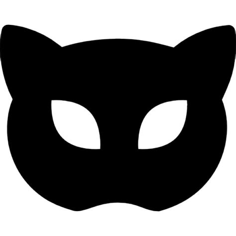 Masker Cat carnival mask silhouette like cat icons free