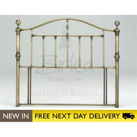 Victoria 5ft King Size Brass Metal Headboard Cheapest
