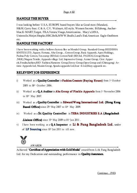H M Resume by Resume Of Nizam Uddin Hasnat