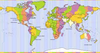 World Clock Map by World Time Zones Map World Clock For Travellers