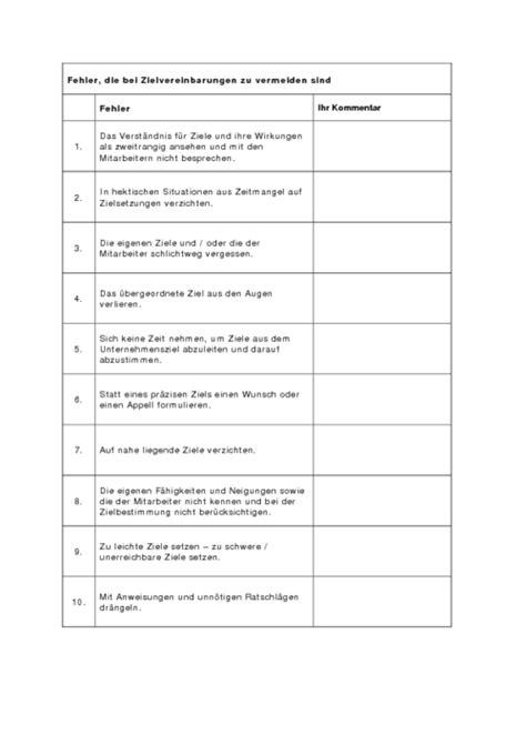 Muster Zielvereinbarung Zielvereinbarungen Business Wissen De