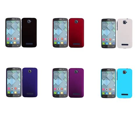Hp Alcatel One Touch C7 rubberized matte snap on cover for alcatel one