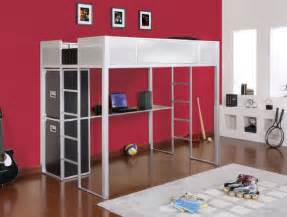 size loft bed with desk