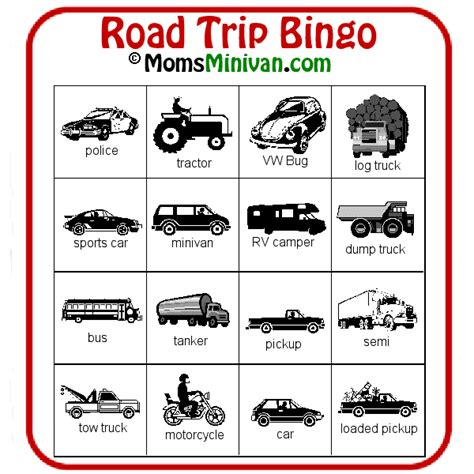 travel bingo card template auto bingo card 2 free printable car bingo momsminivan