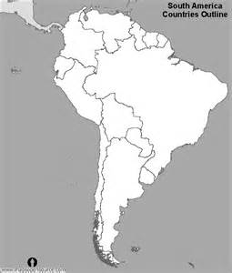 free south america countries outline map black and white