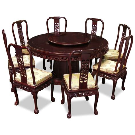 dining table and fabric chairs