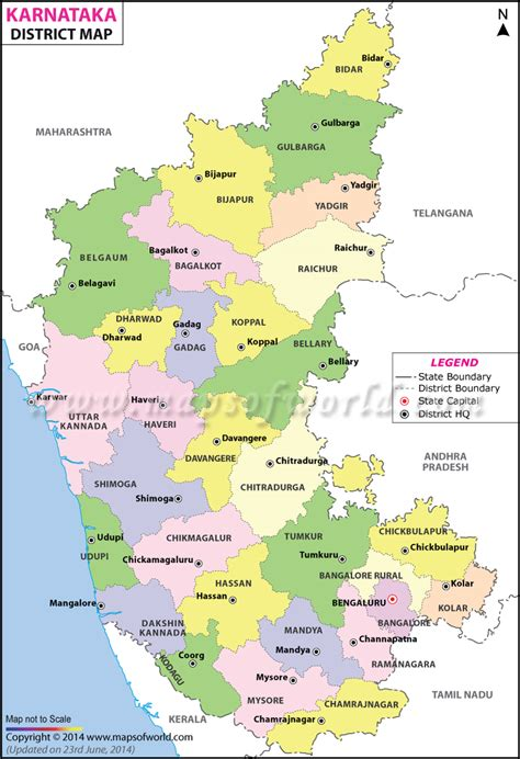 Karnataka District Map Outline by Image Gallery Karnataka District Map