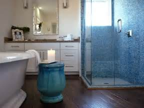blue bathroom tiles blue mosaic tile contemporary bathroom hgtv
