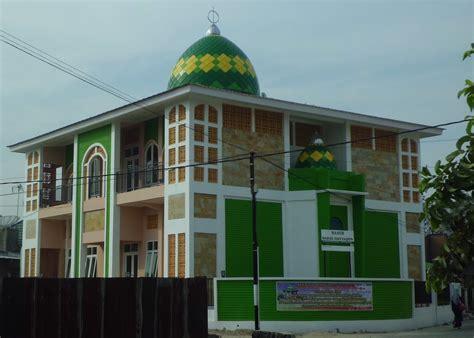 foto desain masjid foto karya kubah konstruksi besi baja berat pt qonaah