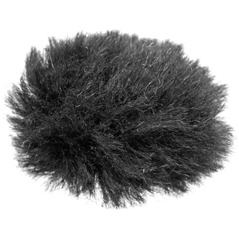 Pro Sound And Lighting Auray Fuzzy Windbuster For Lavalier Microphones Black