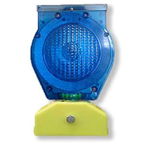 Solar Barricade Light Blue Solar Warning Light