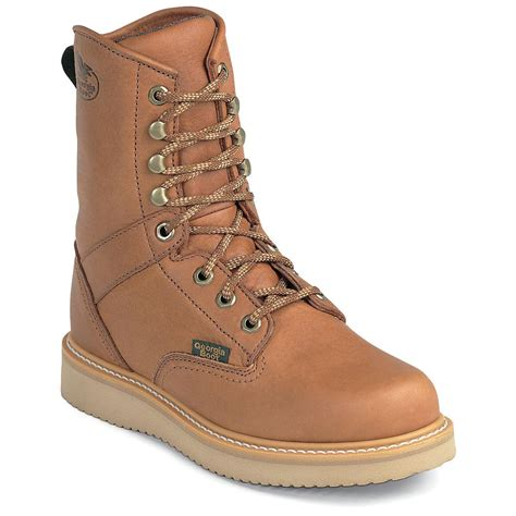 mens wedge boots s 174 boots 8 quot steel toe wedge boots 133411